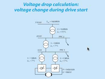 Voltage drop calculation: voltage change during drive ...