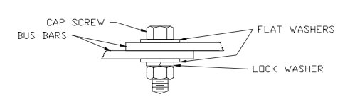 Figure 1: Anatomy of a bolted bus bar joint