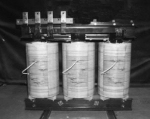 Fig.2 Transformer with layer wound coils