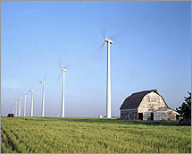 Many wind farms have sprung up in the Midwest in recent years, generating power for utilities. Farmers benefit by receiving land lease payments from wind energy project developers.