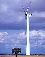 GE Wind Energy's 3.6 megawatt wind turbine is one of the largest prototypes ever erected. Larger wind turbines are more efficient and cost effective.