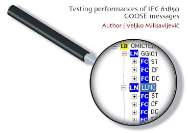 Testing performances of IEC 61850 GOOSE messages