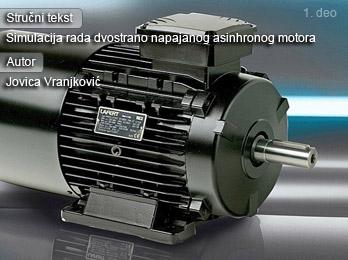Simulacija rada dvostrano napajanog asinhronog motora